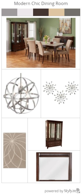 Trending Looks Series - Modern Chic Dining Room From The RoomPlace