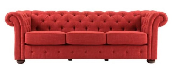 Barrington Red Linen Sofa from The RoomPlace