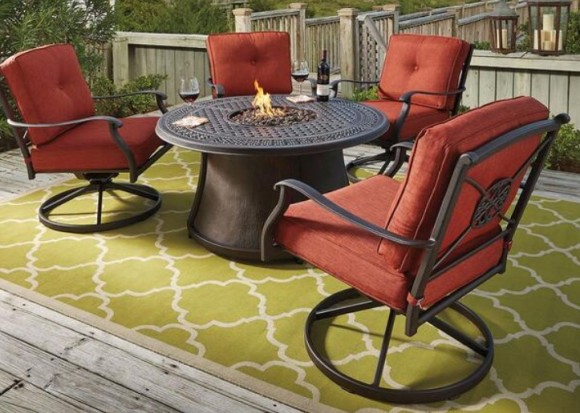 Cimon 5 Piece Fire Pit Set From The RoomPlace