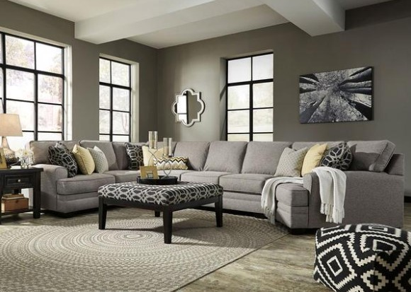 Claudine 4 Pc. Sectional w/Armless Sofa & Cuddler Chaise from The RoomPlace