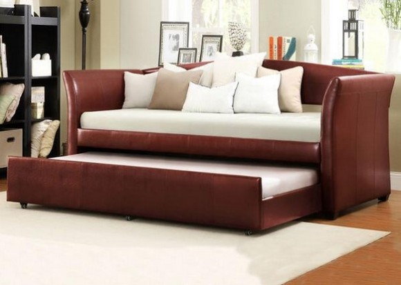 Donovan Red 3 Piece Daybed With Trundle From The RoomPlace