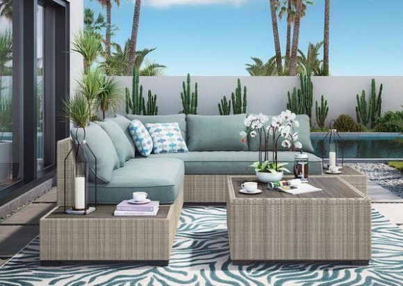 Lakeside 4 Piece Patio Set From The RoomPlace