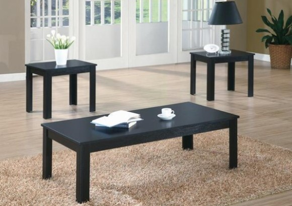 Mikkel Black 3 Pc. Table Set from The RoomPlace