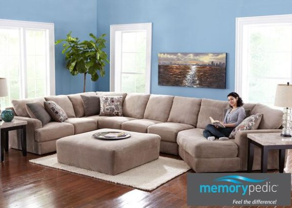 Monterey 3 Pc. Sectional With Cuddler Chaise from The RoomPlace