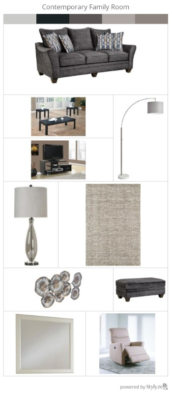 Trending Look Series: Contemporary Family Room from the RoomPlace