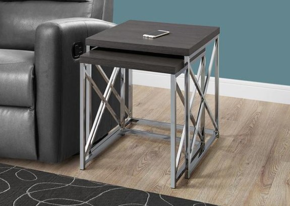 Vinton Charcoal Nesting Tables from The RoomPlace
