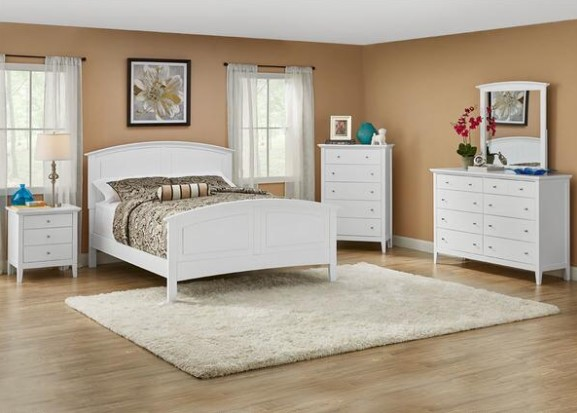 Fulton White 7 Pc. Queen Bedroom from The RoomPlace