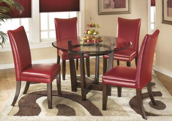 Marissa 5 Pc. Red Dinette from The RoomPlace