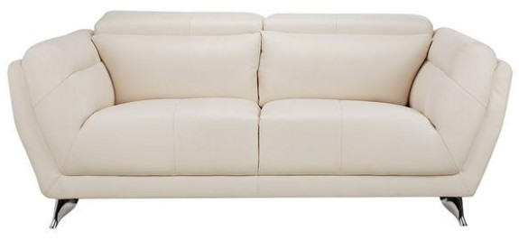 Mars White Loveseat from the RoomPlace