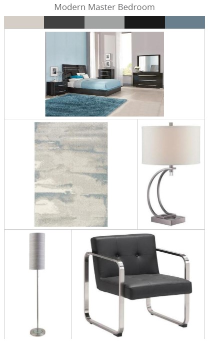Modern Master Bedroom featuring Furniture from The Roomplace Shop Trending Looks