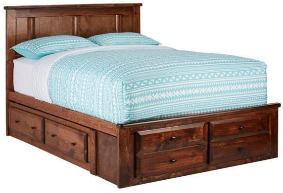 Catalina Chestnut Full Platform Storage Bed from The RoomPlace