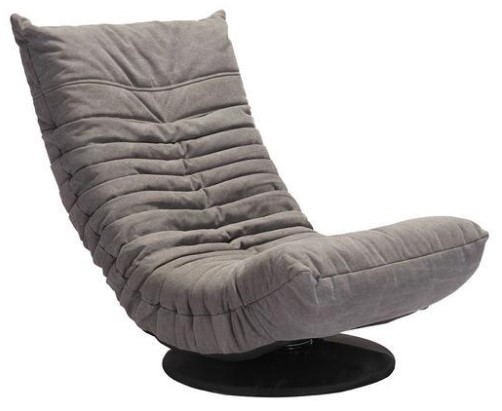 Down Low Gray Swivel Chair from The RoomPlace