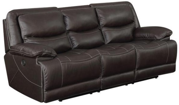 Image: Rover Leather Power Sofa w/Power Headrests from The RoomPlace