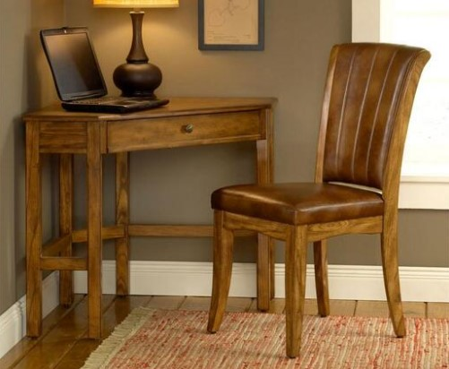 Solano Oak Desk And Chair from the RoomPlace