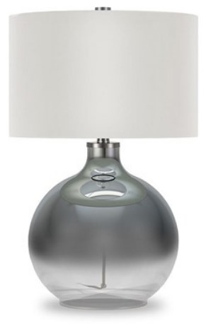 Laelia Silver Table Lamp from the RoomPlace