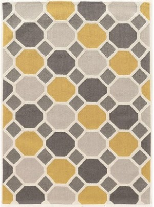 Image: Linon Trio Ceramic Gray Area Rug from The RoomPlace