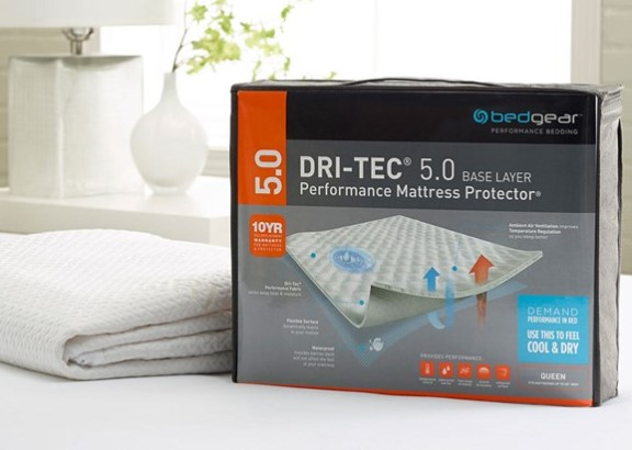 Image: BEDGEAR 2-Pack Dri-Tec Twin Mattress Protector from The RoomPlace