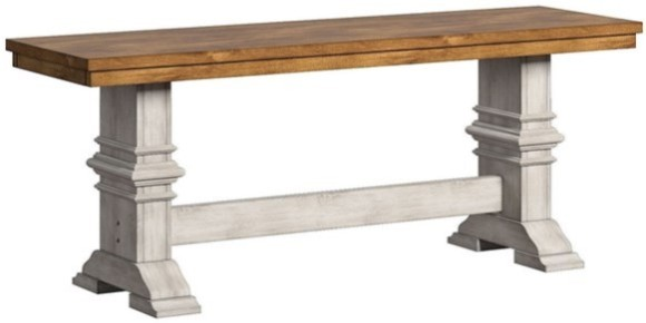 Image: Lakewood White Dining Bench from The Room Place