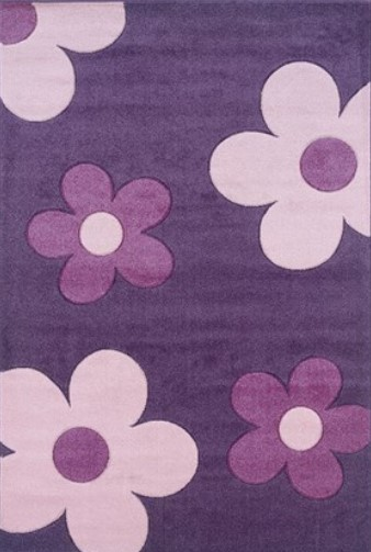 Linon Daisy Purple Area Rug from The RoomPlace
