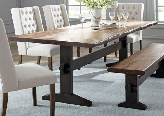 Tucson Dining Room Table & Bench by Scott Living from The RoomPlace