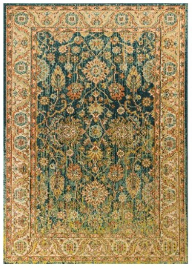 KAS Casablanca Teal Area Rug From The RoomPlace