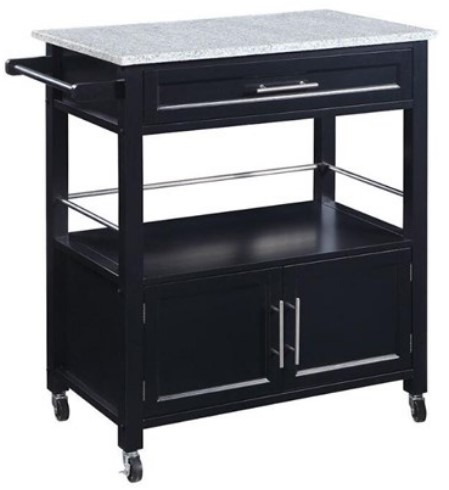 Micah Black Large Kitchen Cart from The RoomPlace